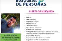 Piden ayuda para localizar a Edwin Isaías Martínez