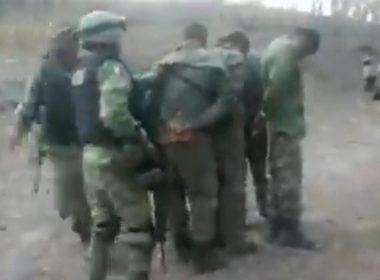 Video. Exhiben detención de militares adheridos al narco