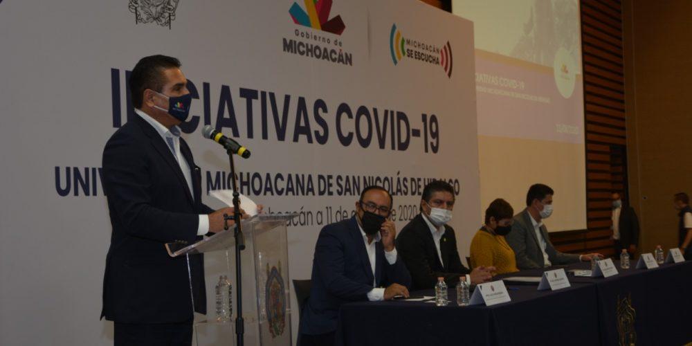 UMSNH y gobierno del estado signan carta de colaboración para atender COVID-19