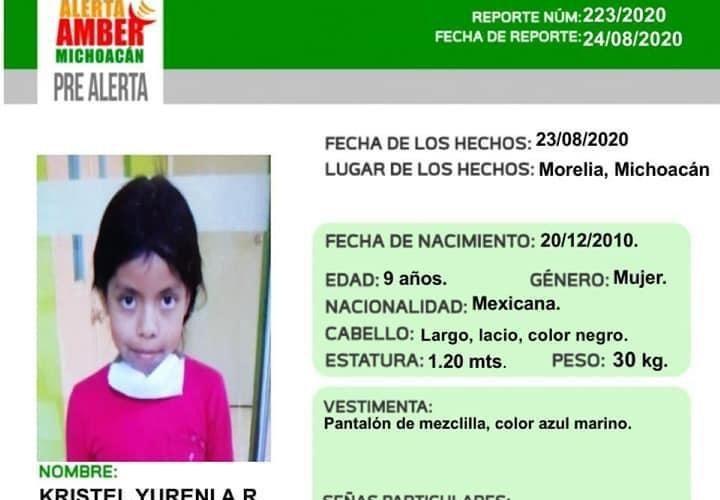 Activan alerta amber para localizar a cinco menores desaparecidas en Morelia