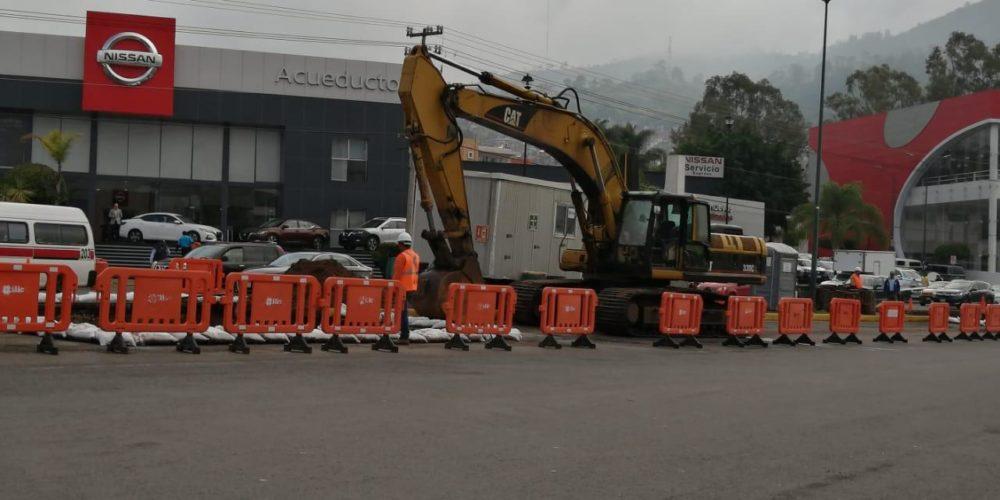 Por daño a colector pluvial, clausuran obra Mil Cumbres