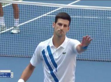 """Por """"pelotazo"""" a juez de línea echan a Djokovic del US-Open"""