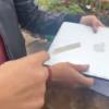 Tras asegurar auto a joven, Policía Michoacán le roba computadora
