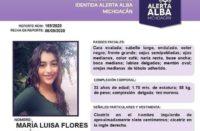 ctivan alerta alba para localizar a María Luisa Flores Farías
