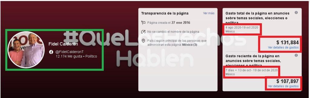 Derrocha Fidel Calderón en publicidad