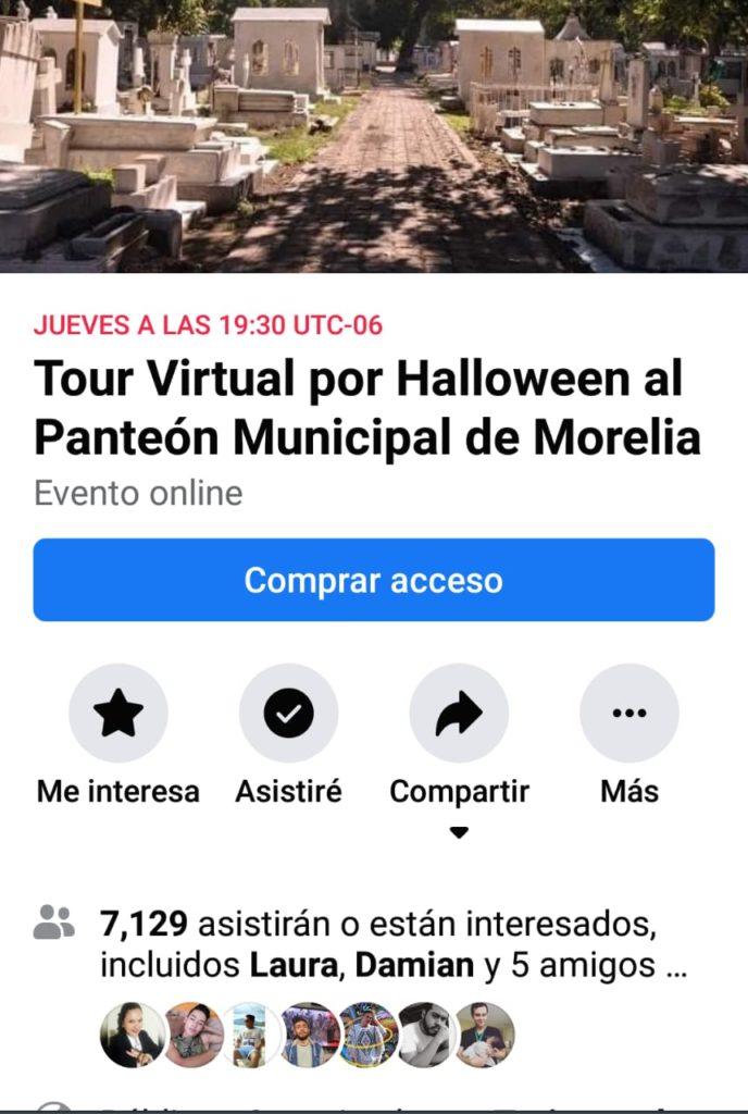 Para Halloween recorrido virtual en panteón