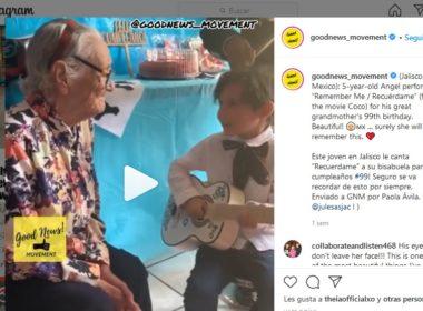 Vídeo. Niño conmueve con serenata a bisabuela
