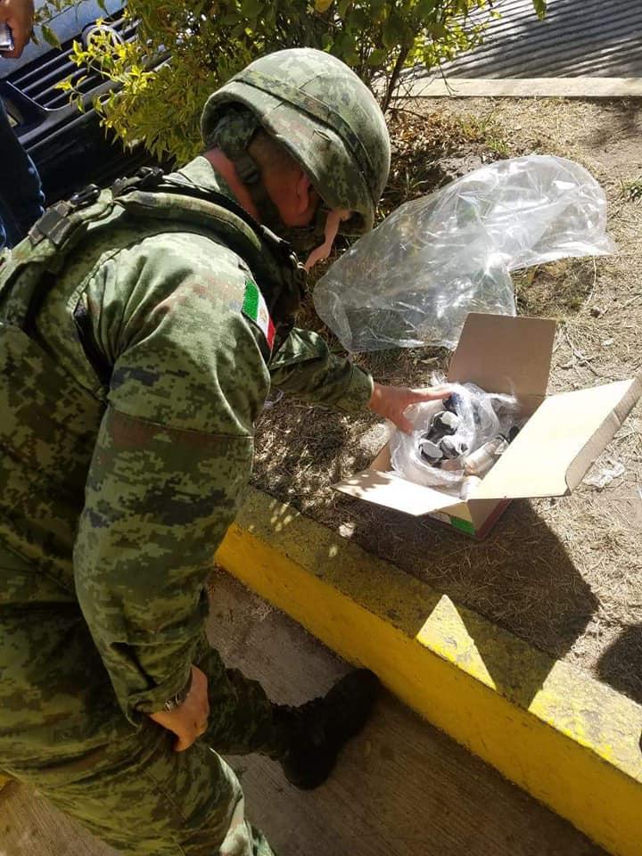 Aseguran 9 granadas en empresa