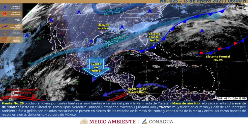 Meteorológico para hoy miércoles