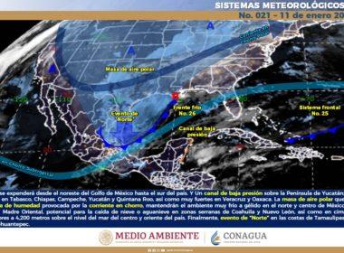 Pronóstico meteorológico para el día lunes