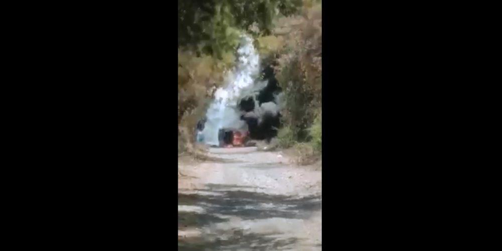 Incendian vehículo con sicarios del CJNG