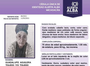 Activan alerta alba por Guadalupe Aguilera Toledo