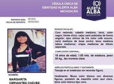 Activan alerta alba por Margarita Cervantes Chávez