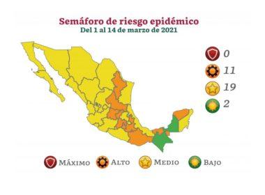 Michoacán arranca marzo en semáforo amarillo