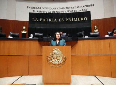Anuncia senadora su salida de Morena