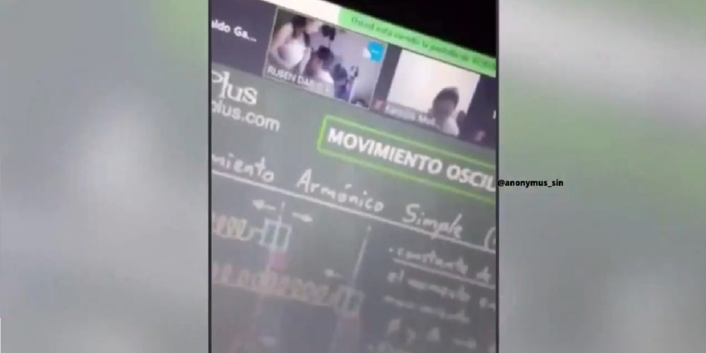 Video. Profesor besa los pechos a su esposa en clase virtual
