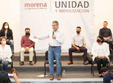 morenistas en respaldo a Raúl Morón