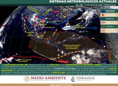 pronóstico general del meteorológico para hoy