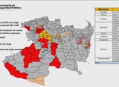 Al menos 12 municipios con problemas de instalación de casillas por crimen organizado