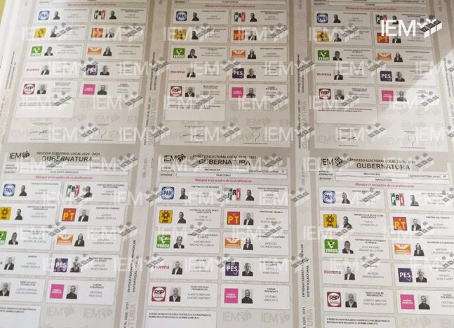 Listas boletas electorales gubernatura