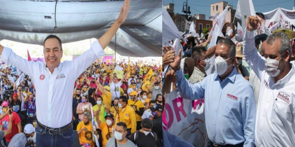 Morena y PRI-PAN-PRD casi en el empate en Michoacán