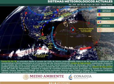 Pronóstico meteorológico general para el día de hoy miércoles