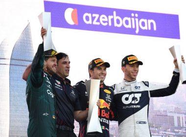 Checo Pérez gana Gran Premio de Azerbaiyán