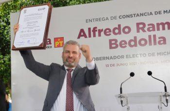 IEM reconoce a Bedolla como gobernador electo; llama a reconciliación en Michoacán