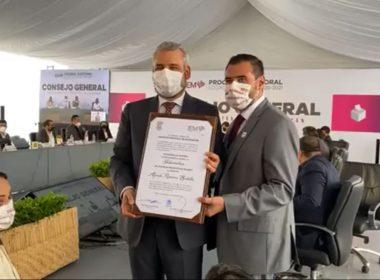 Recibe Alfredo Ramírez constancia de mayoría en elección a gobernador