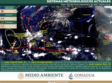 Meteorológico nacional para hoy domingo