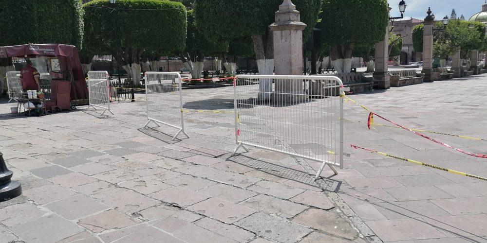 Por Covid, aún no se abrirán las plazas públicas Alfonso Martínez