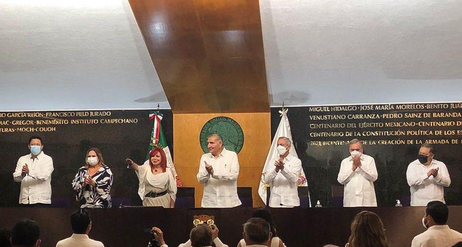 Toma Layda Sansores posesión como gobernadora de Campeche