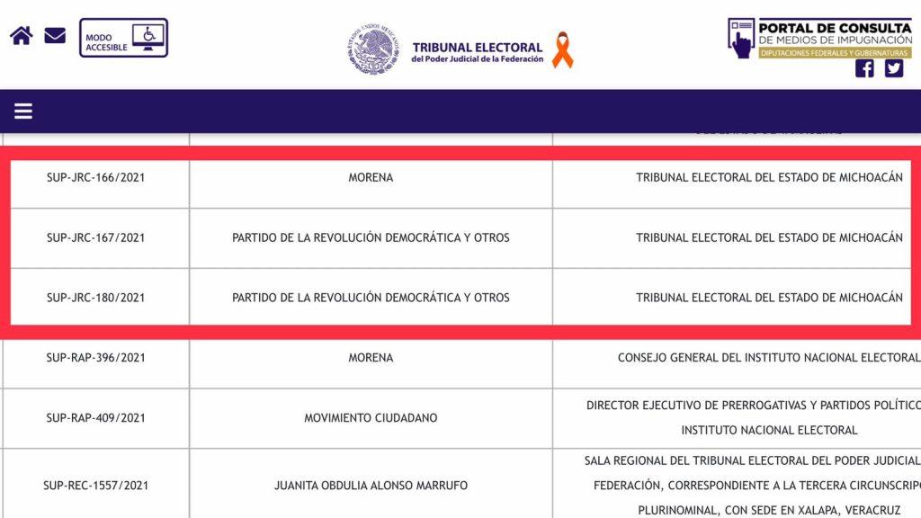 resolverá TEPJF elección Michoacán