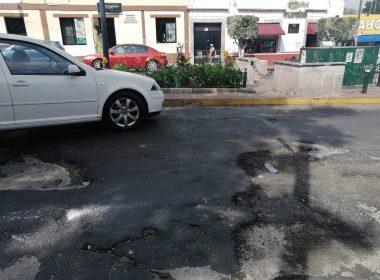 El inició de un volcán lo que tenemos en plena calle Vecinos de la calle Eduardo Ruíz