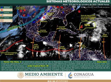 Pronóstico nacional del meteorológico para hoy