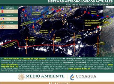 Reporte nacional del meteorológico para hoy viernes