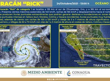 Se aproxima Rick a costas de Michoacán y Guerrero