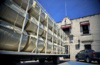 entrega de tinacos subsidiados en Tarímbaro